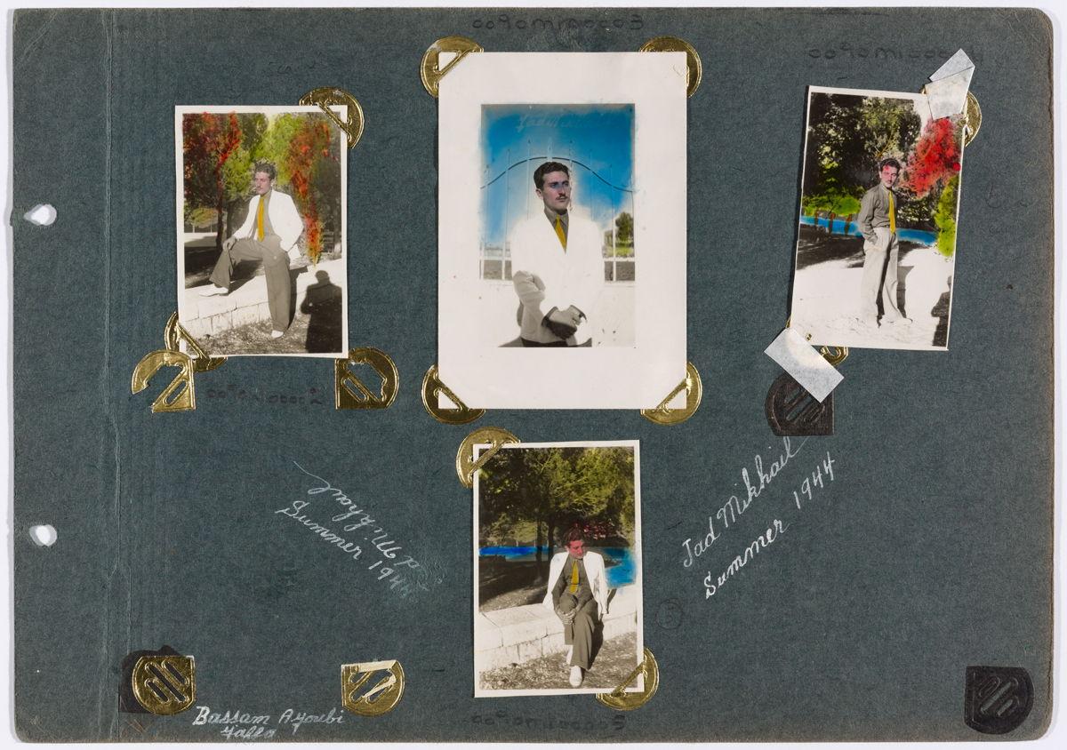 Autoportraits, Jad Mikhail, Ramallah, Palestine, 1944, Tirages gélatinoargentiques, montés sur carton. Collection Jad Mikhail, reproduit avec l'autorisation de la Fondation Arabe pour l'Image.