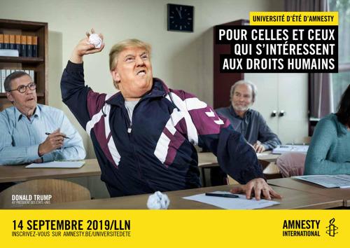 Trump, Poutine et Kim Jong-Un à nouveau sur les bancs de l'école grâce à AIR et Amnesty