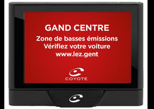 Coyote vous avertit désormais lorsque vous rentrez dans la zone de basses émissions (LEZ) à Gand