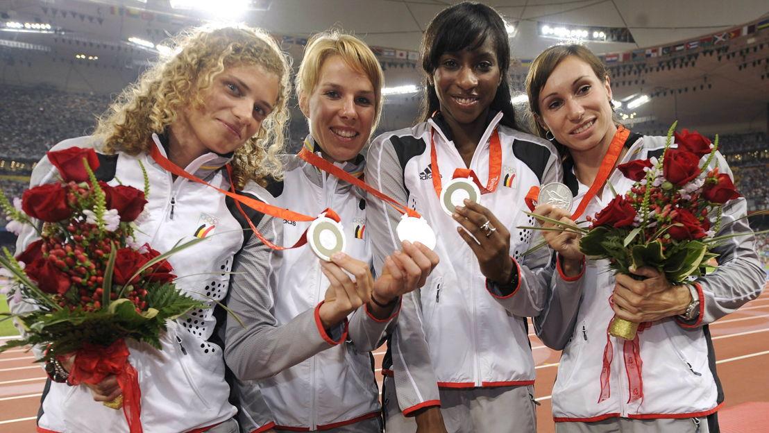 Belga Sport  9.1: estafetteploeg 4 x 100 meter