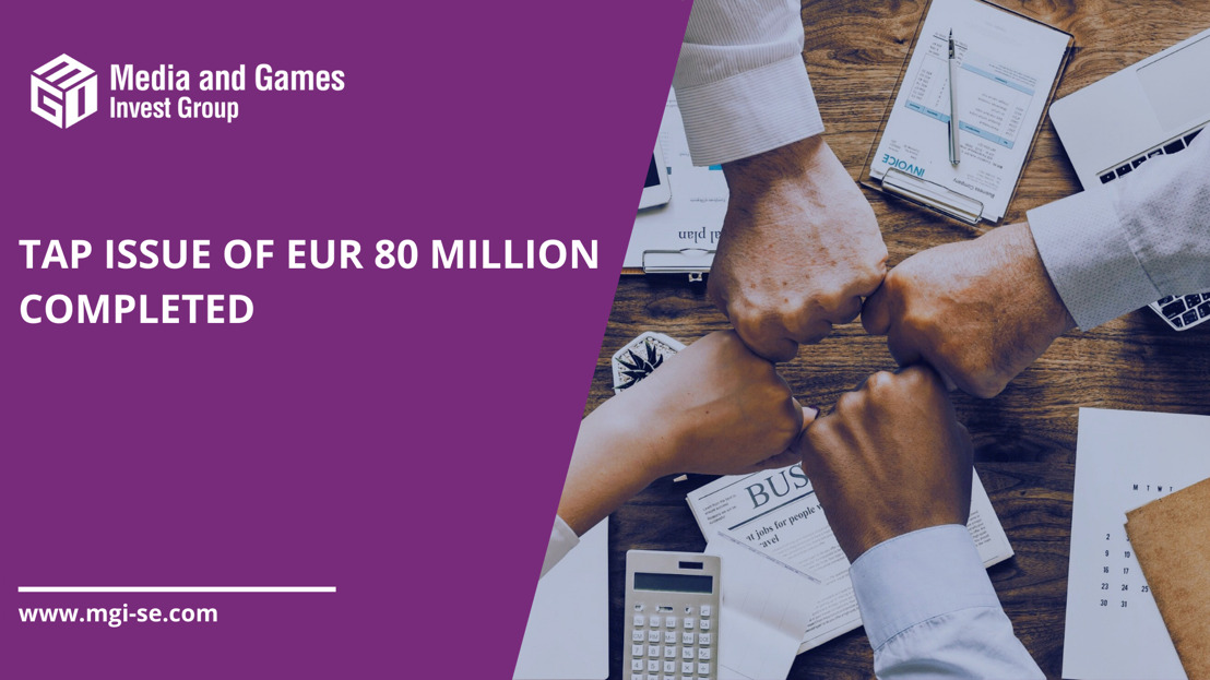 Media and Games Invest successfully places EUR 80 million of subsequent bonds at 103.00% of par and a YTM of 4.76% enabling refinancing of its unsecured bond and further execution of the M&A pipeline