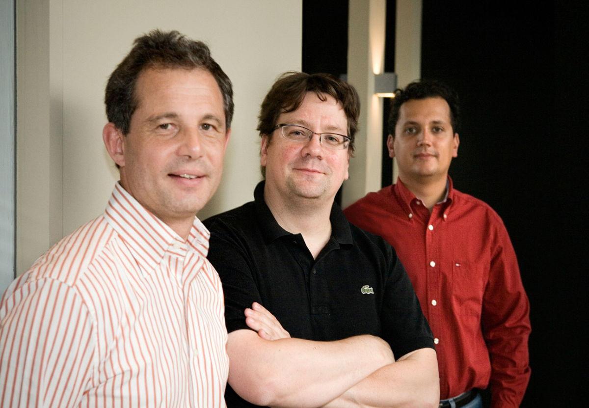Denis Steisel, Brice Le Blévennec, en Karim Chouikri in 2004