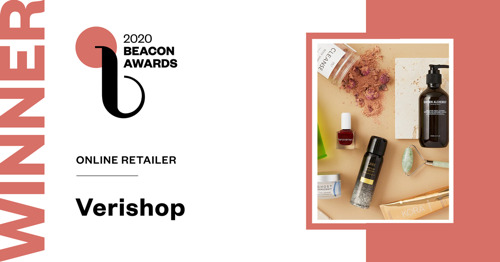 Verishop Wins Beauty Independent Beacon Award for Online Retailer of the Year