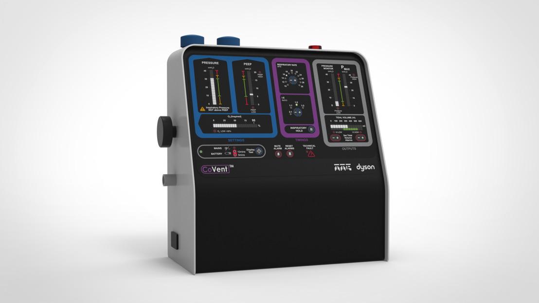 Dyson desarrolla CoVent, un ventilador portátil para ayudar con el COVID-19