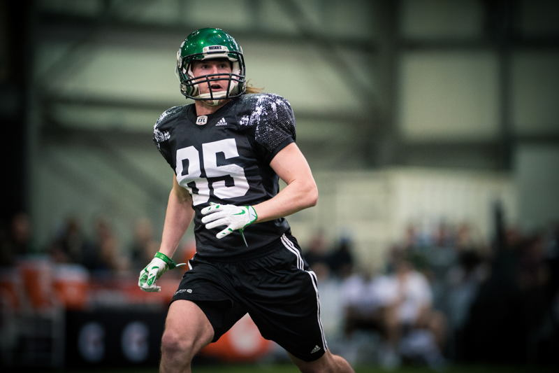 Mitchell Hillis at the CFL Combine presented by adidas. Photo credit: Johany Jutras/CFL