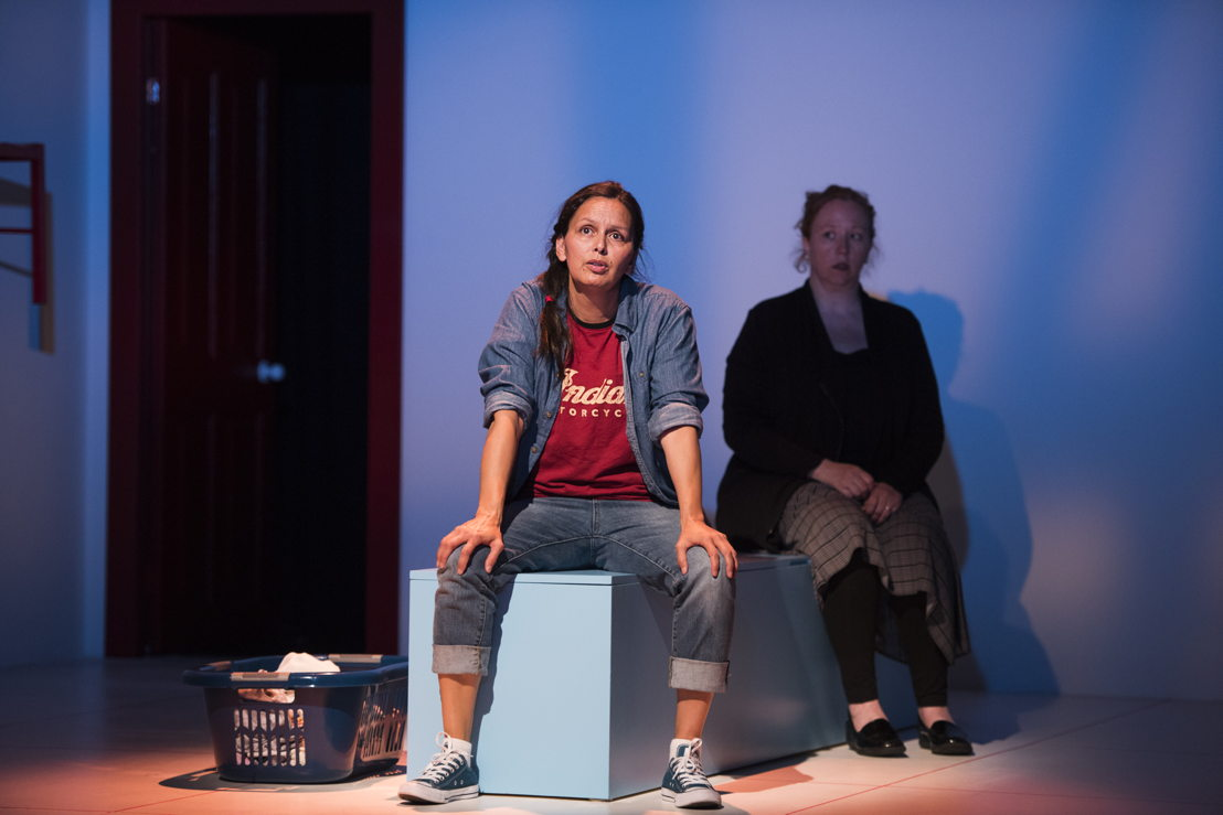 Lisa C. Ravensbergen (foreground) and Trish Cooper star in Mom's the Word / Photos by Emily Cooper