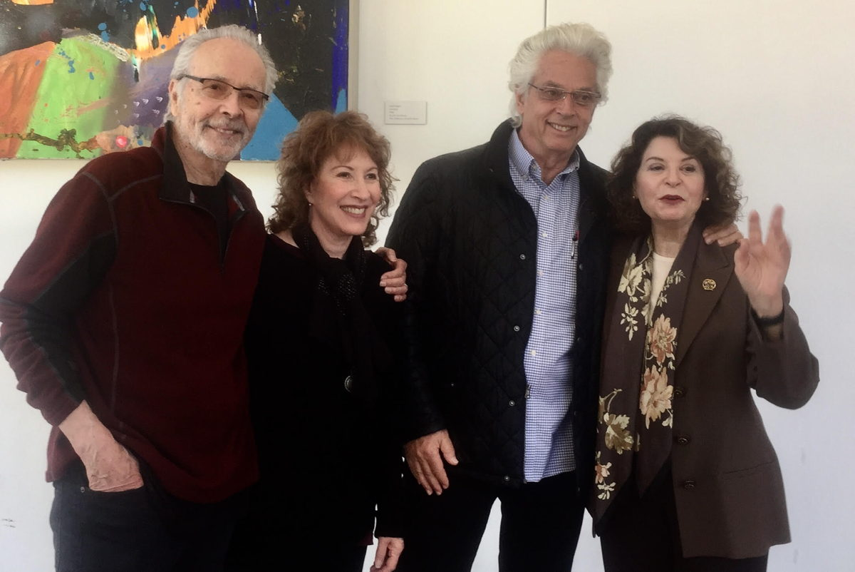 L-t-r Herb Alpert, Lani Hall Alpert, John Storyk, Rona Sebastian, Exec. Director The Herb Alpert Foundation