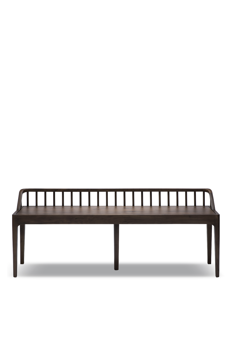 Ethnicraft Walnut Spindle bench