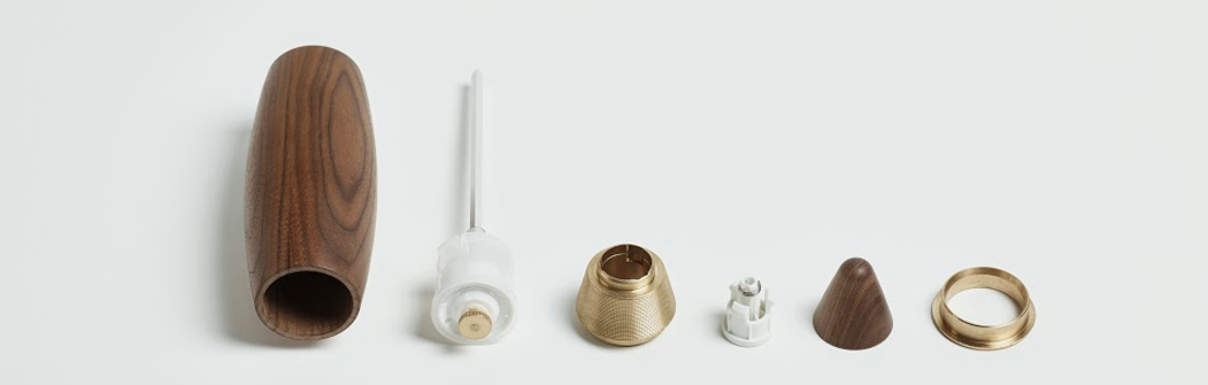 Gloednieuw Belgisch designmerk Grinderworks lanceert kruidenmolen Bartolomeu