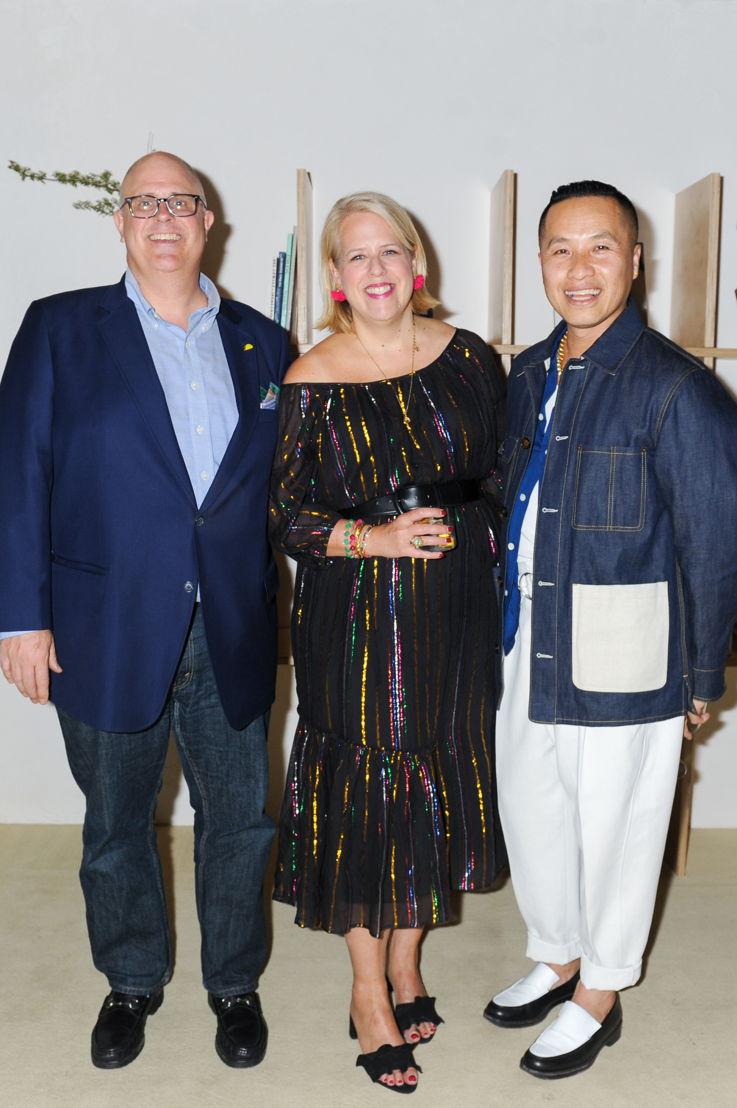 Adam Tschorn, Booth Moore y Phillip Lim
