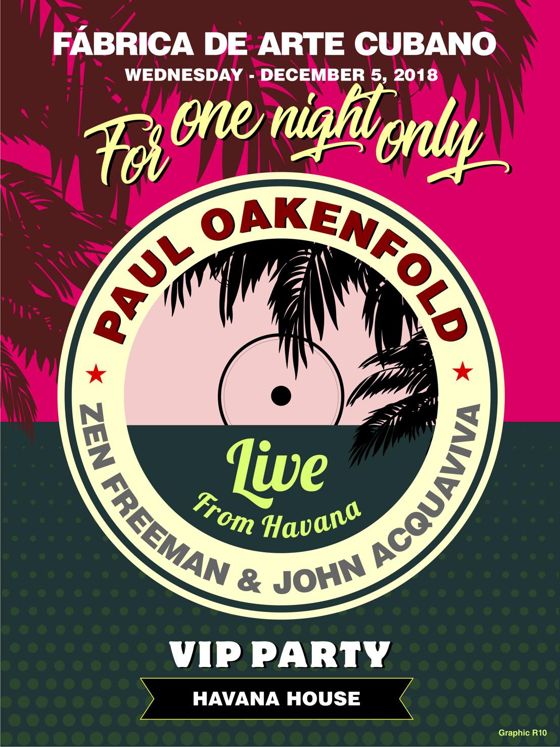 Paul Oakenfold Announces His Return to Cuba for a Live Concert at Fabrica de Arte Cubano, Havana's Creative Epicenter