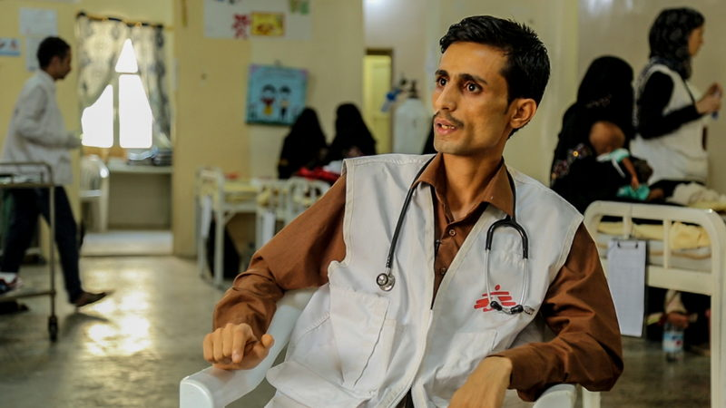 Dr Ahmad Hasan Azman, a General Practitioner in Abs hospital, works in the Nutrition department and the Emergency department.<br/><br/>&quot;We get a lot of very complicated cases; people in bad situations. And when we ask the caretakers about the case, they say that they did not have enough money to take the patient to a hospital.&quot; Photographer: MSF