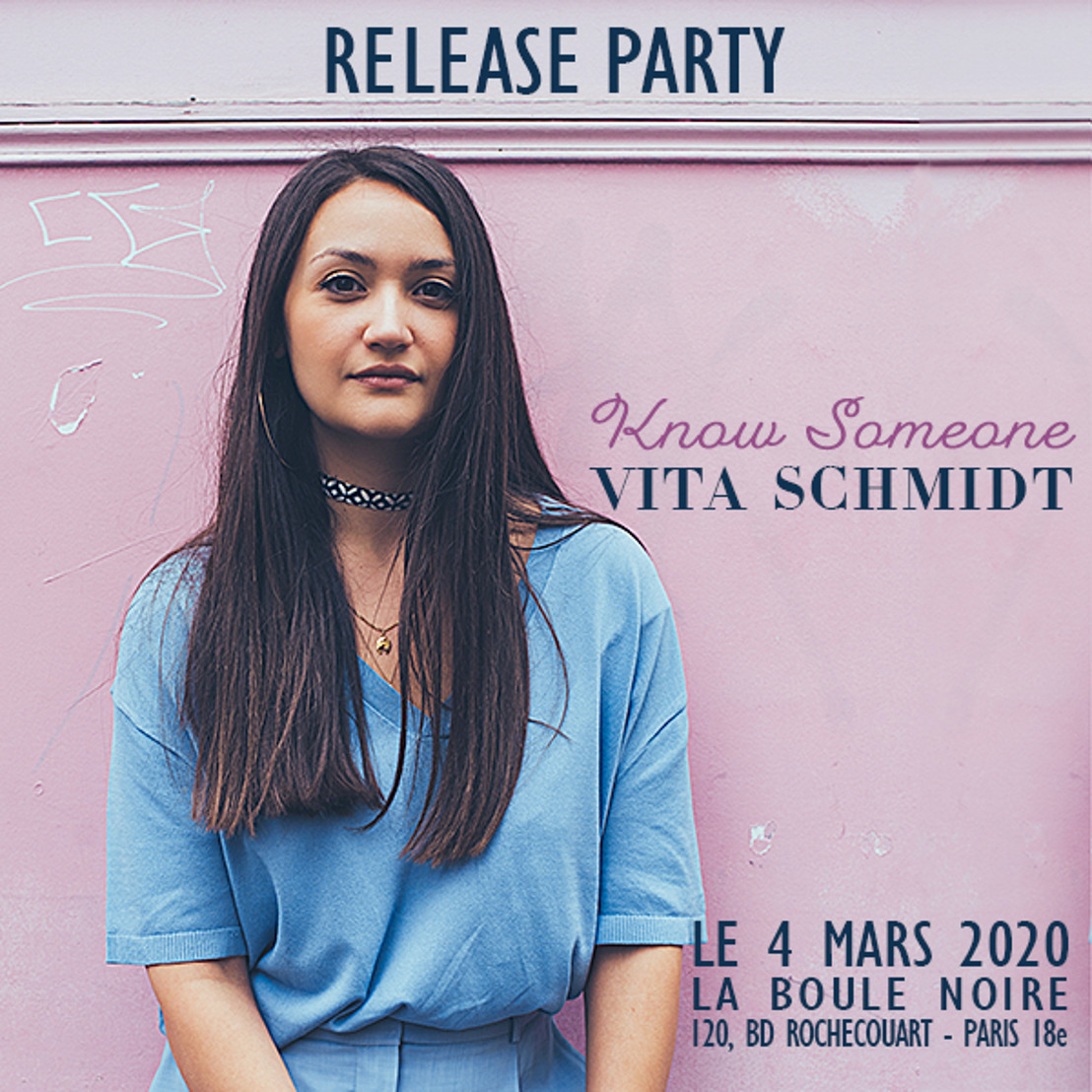 VITA SCHMIDT en concert à La Boule Noire le 4 mars 2020