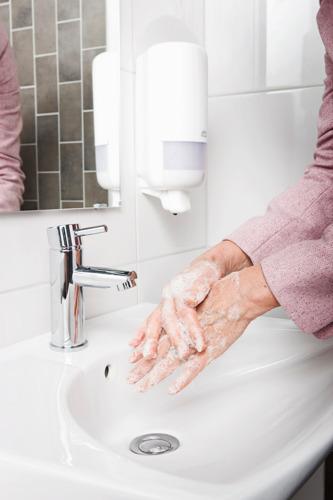 Un savon innovant pour les mains qui répond à des exigences spécifiques en matière de durabilité et d'hygiène
