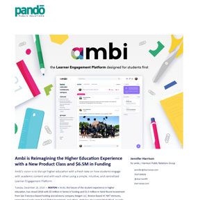 Ambi is Reimagining the Higher Education Experience with a New Product Class and $6.5M in Funding