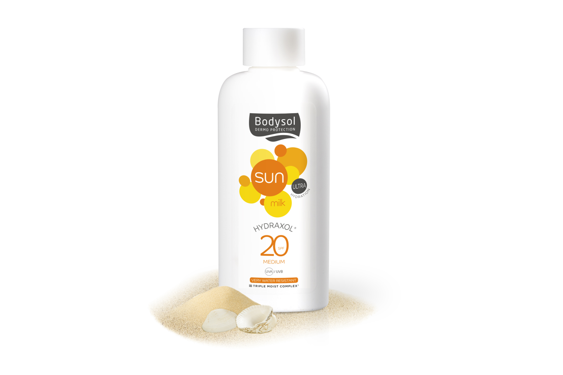 Bodysol Sunmilk Hydraxol SPF 20: €13,95 (200 ml)