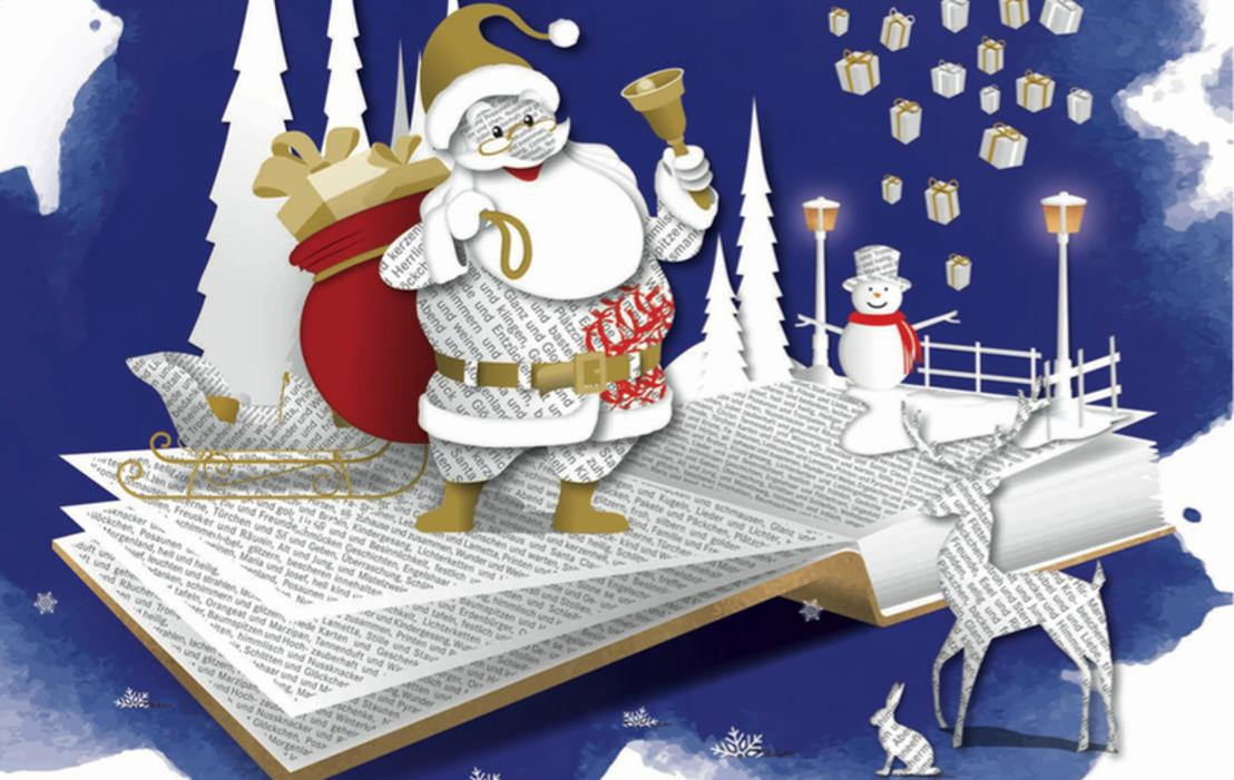 Der Weihnachtsmann bringt bei Hugendubel Geschenke