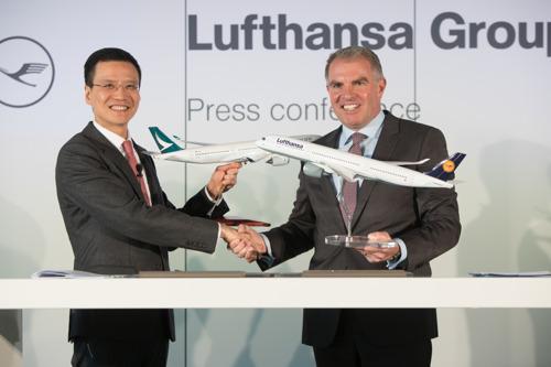 Cathay Pacific und Lufthansa Group unterzeichnen Kooperationsvertrag