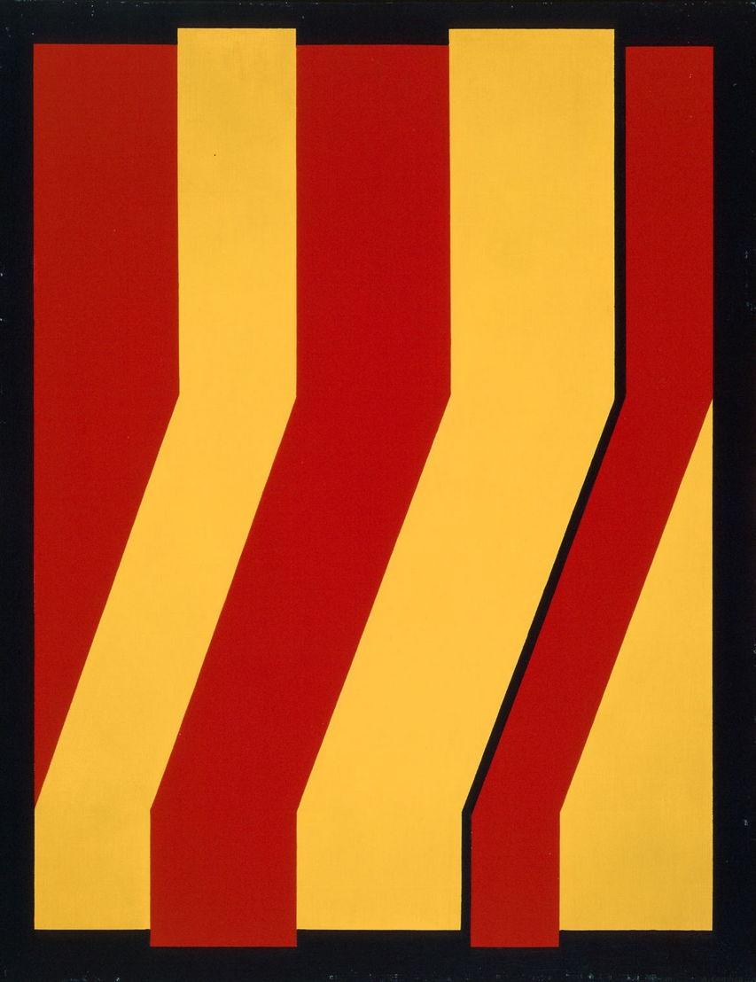 © Amédée Cortier, Abstracte compositie blauw-rood-groen, 1967-1969. Foto Philippe Debeerst