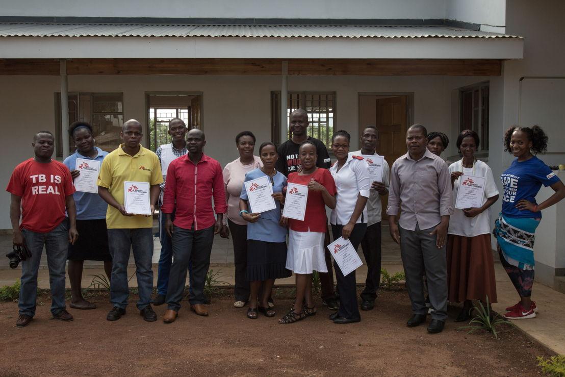 Sign language graduated MSF staff. Matsapha clinic, Manzini Region, Swaziland. Photographer: Alexis Huguet