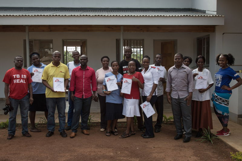 Sign language graduated MSF staff. Matsapha clinic, Manzini Region, Swaziland. Photographer: Alexis Huguet