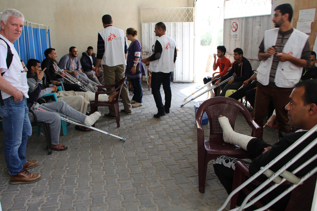 In Gaza, MSF teams observe unusually severe and devastating gunshot injuries