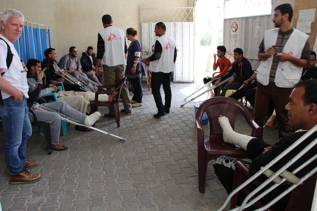 In Gaza, MSF teams observe unusually severe and devastating gunshot injuries