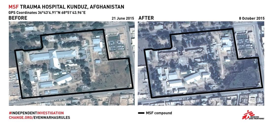 HERINNERING: Publieke herdenking aanval AZG ziekenhuis Kunduz MET BEELDMATERIAAL