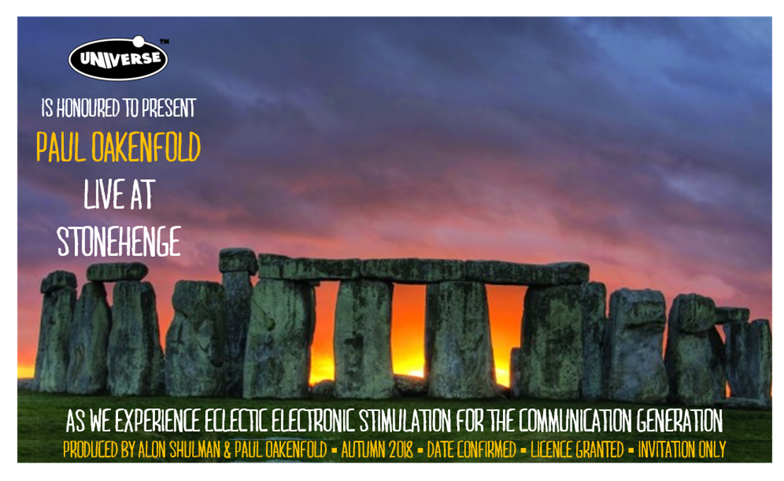 PAUL OAKENFOLD WILL BE THE FIRST DJ EVER TO PLAY AT STONEHENGE ile ilgili görsel sonucu