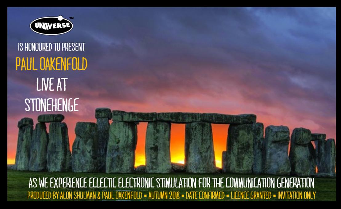 Superstar DJ Paul Oakenfold to Play Stonehenge