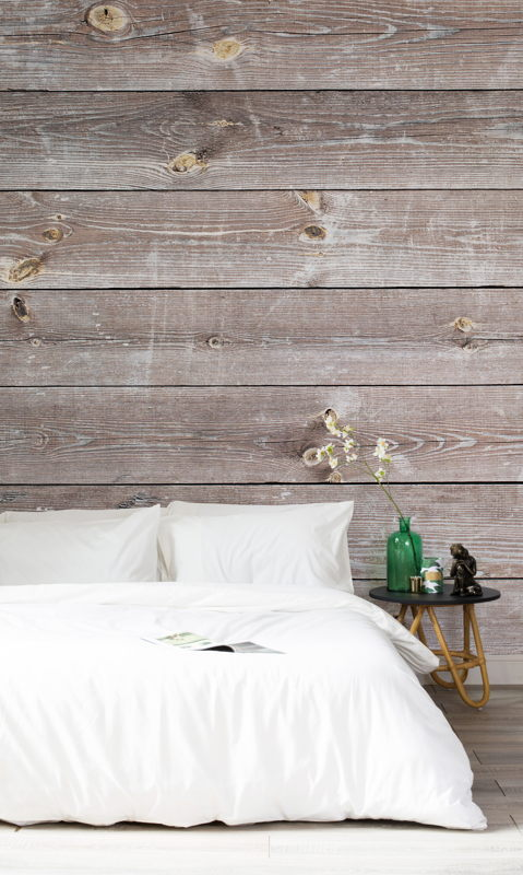 Coastal Weathered Wood Wall Mural