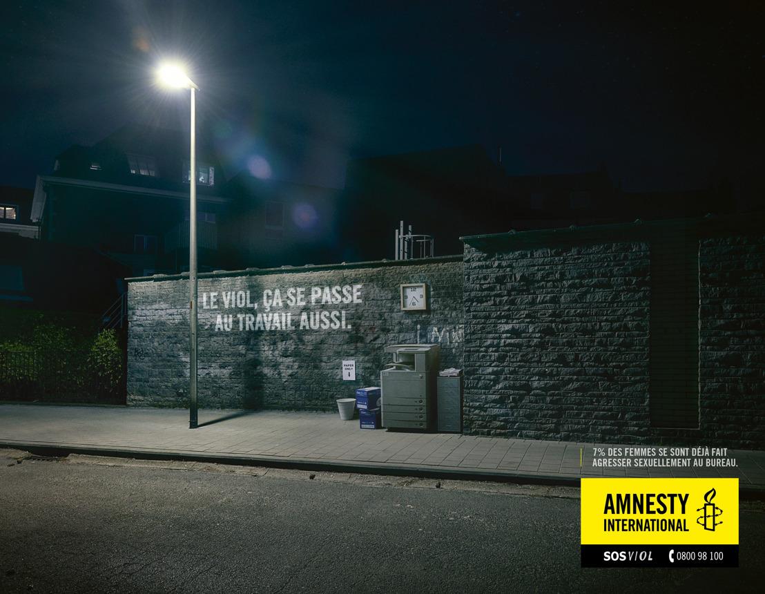 Amnesty en Air tegen verkrachting op het werk