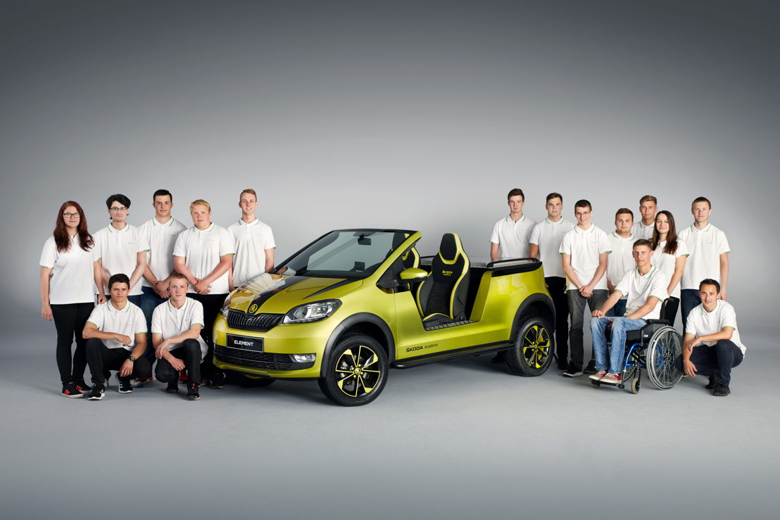 Following the three successful design studies from recent years, the students decided on an electric buggy that bears the name ŠKODA ELEMENT.
