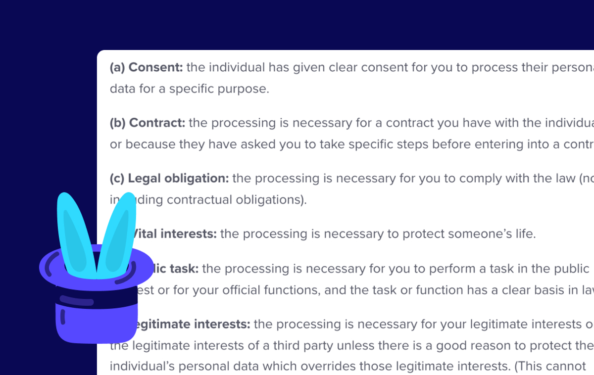 Help: Consent & your existing database
