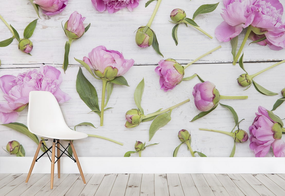 Cut Flowers Wallpaper Mural