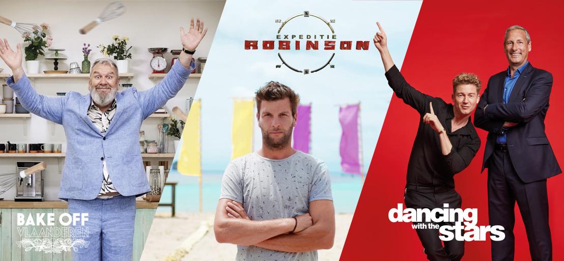 VIER spreidt sterke najaarsmerken van augustus tot januari, Gert Verhulst en Jani Kazaltzis presenteren live in het weekend Dancing with the Stars