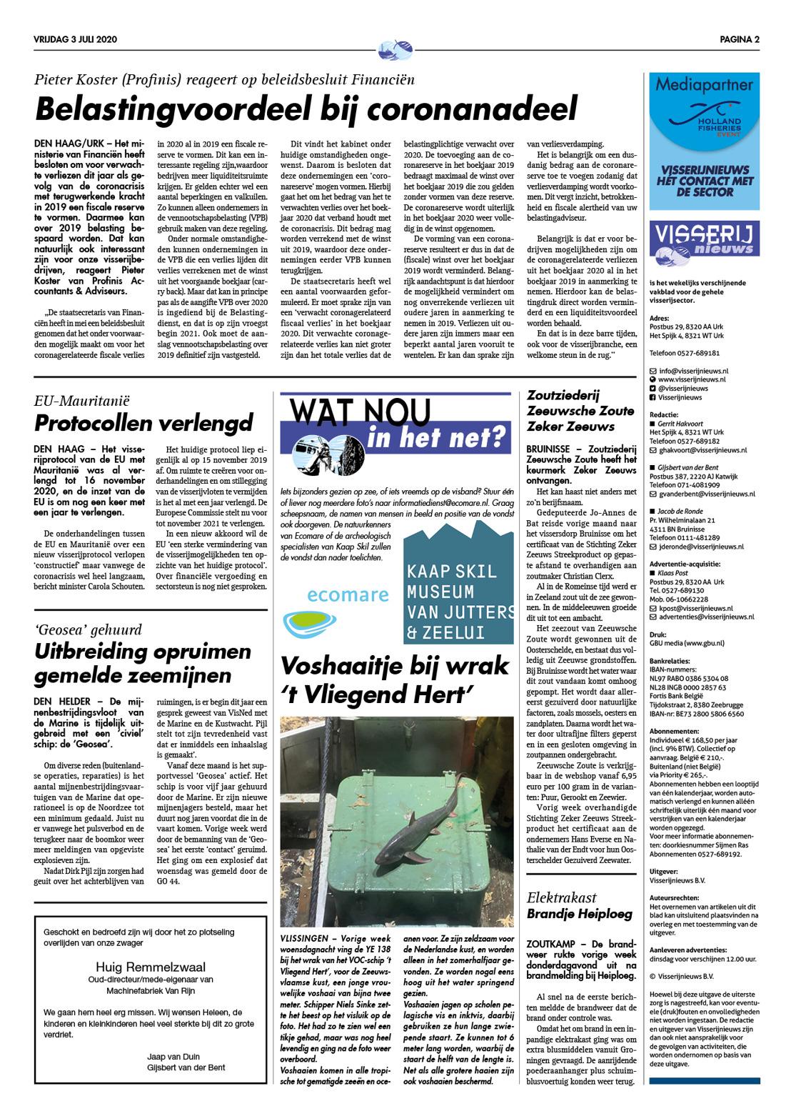 Zeeuwsche Zoute in Visserij Nieuws
