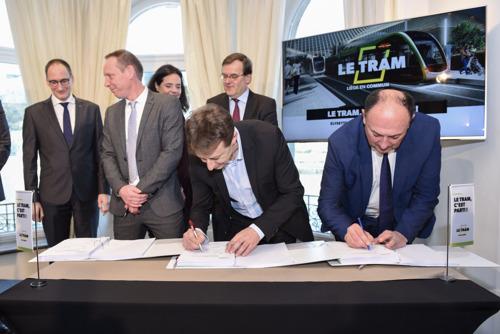 Le tram de Liège, c'est signé !