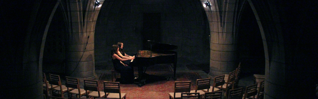 Twin sister piano duo Christina and Michelle Naughton play The Crypt Sessions on August 25th