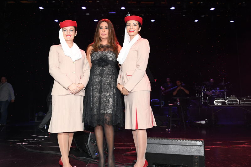 The star-studded singing cruise was a raging success for the Arab superstar, Elissa