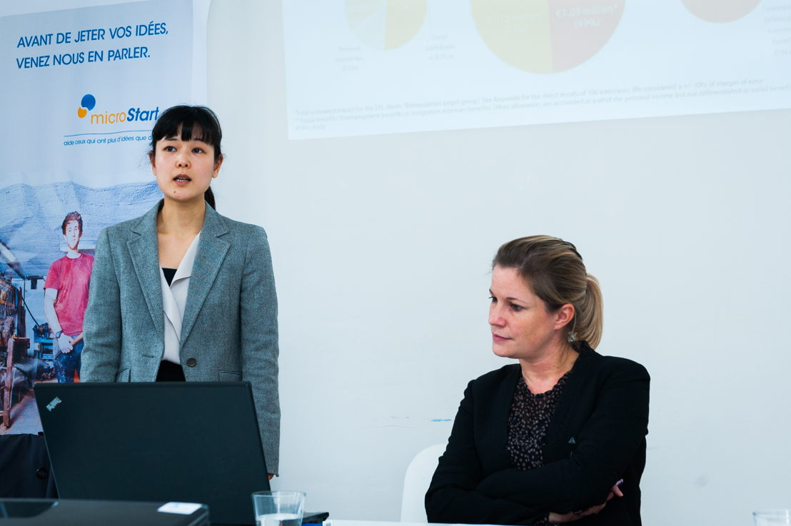 Kana Hayashida (MBA Vlerick Business School) & Veroniek Collewaert (Professor Ondernemerschap, Vlerick Business School)