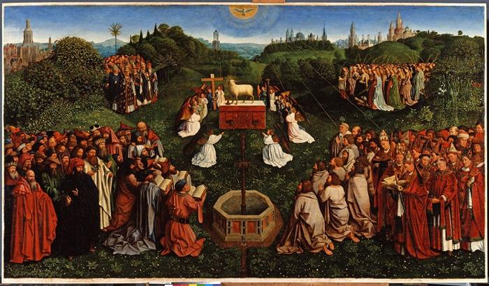 M – Museum Leuven stellt die älteste Kopie des 'Genter Altars' wieder zusammen