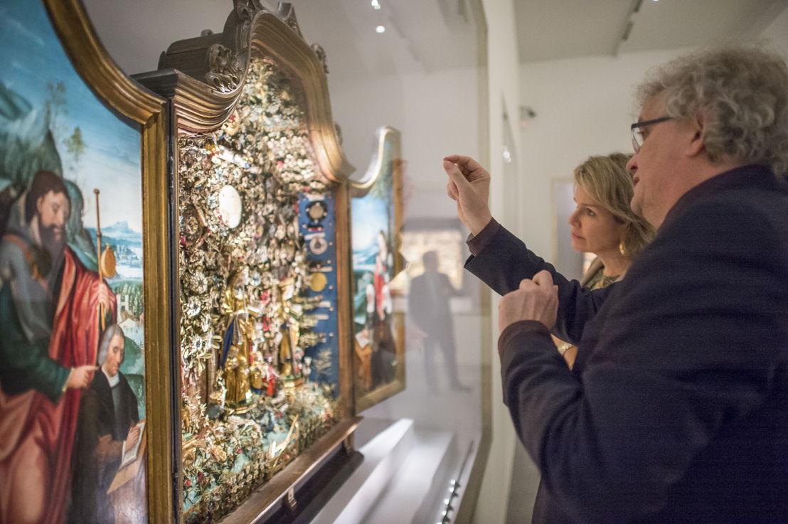 Koningin Mathilde bij de Mechelse Besloten Hofjes<br/>(c) Rudi Van Beek