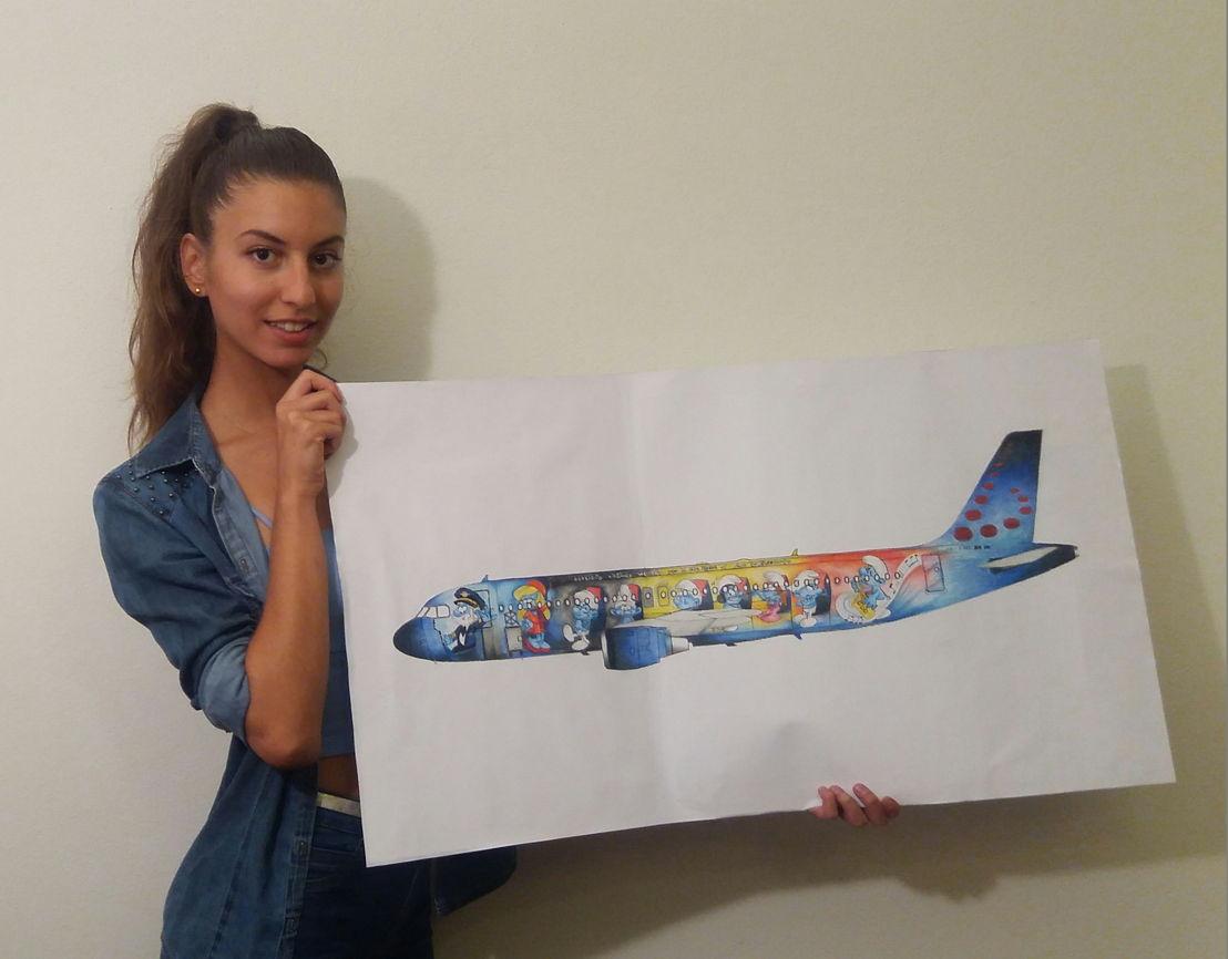 Marta Mascellani avec son dessin