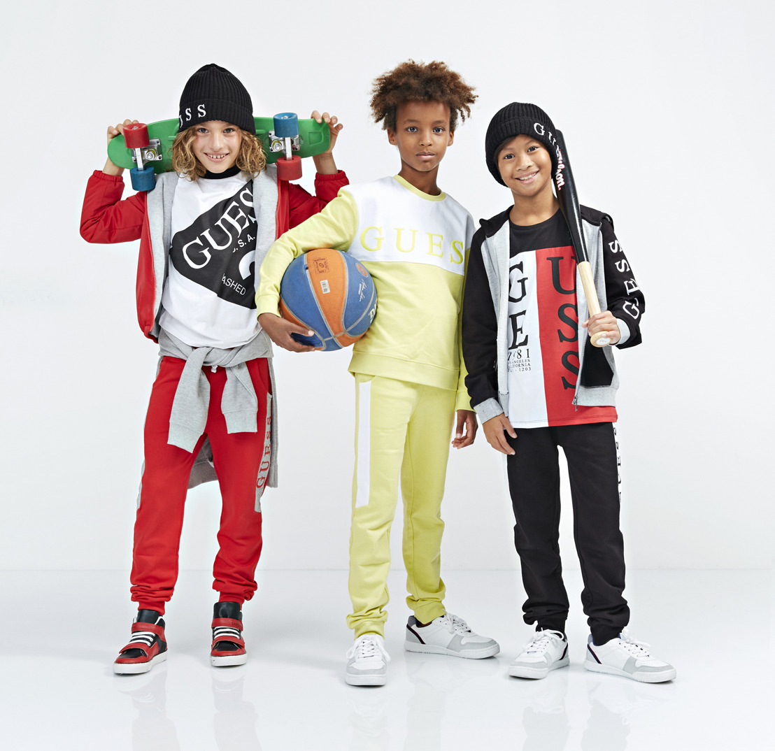 Go green with the trendy GUESS KIDS Back to School collection