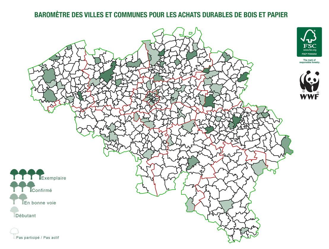 Infographie : Score obtenu par les communes qui ont participé à l'enquête