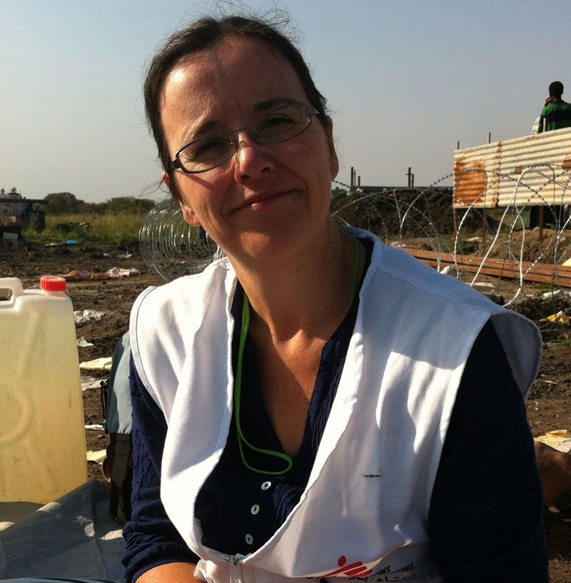 Anna Cilliers, a South African nurse. Here she's in South Sudan in June 2013 for a vaccination campaign to reduce the spread of seasonal meningitis.
