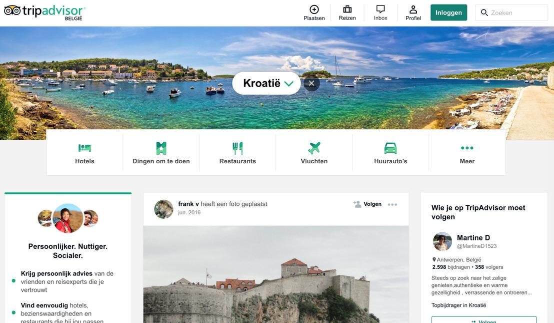 Kroatië sterkste stijger op TripAdvisor