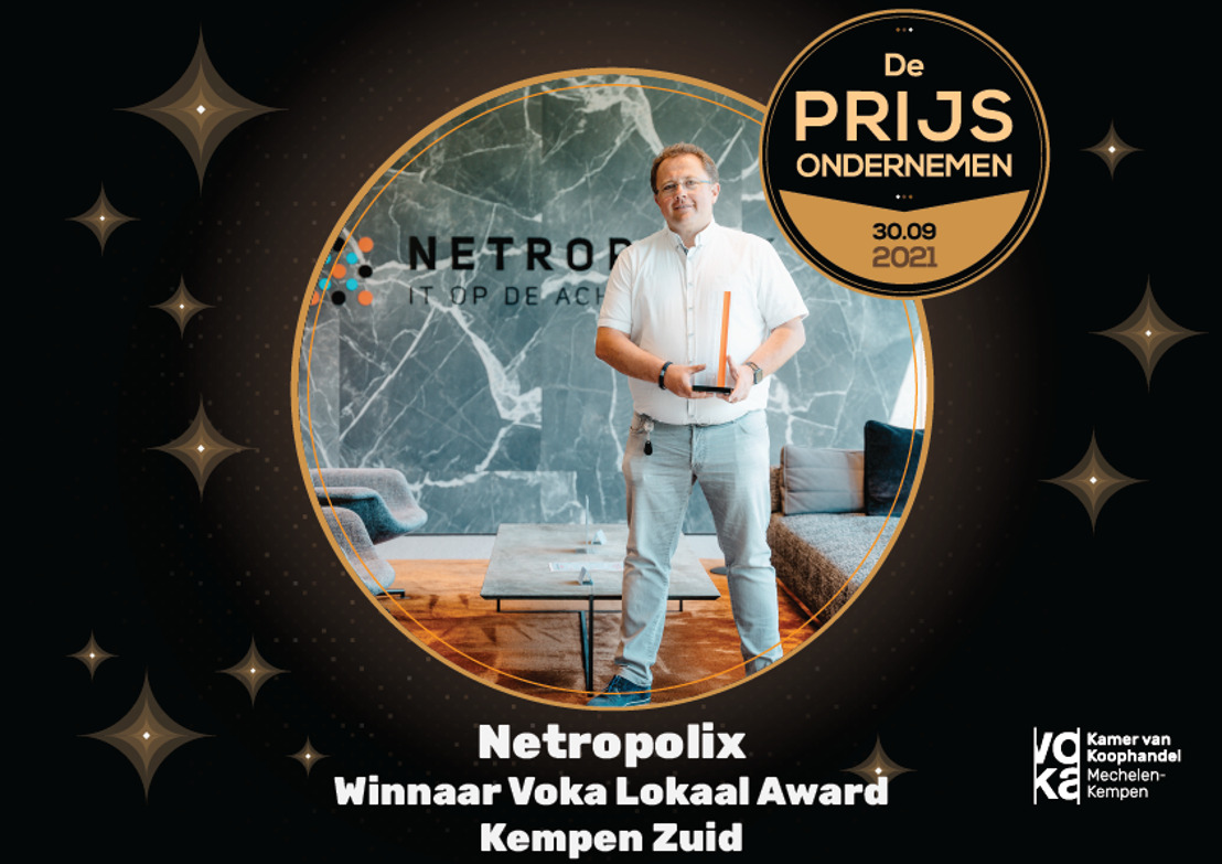 Netropolix pakt award en gaat nu vol voor Voka Prijs Ondernemen 2021