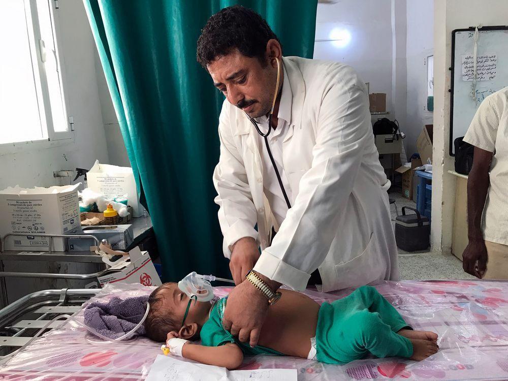 Le docteur Mohammad Ahmed à l'hôpital de Abs. (c) Sonia Verma/MSF